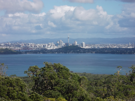 Auckland from the summit of Rangitoto. Wow.