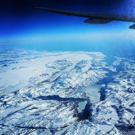 winter view plane