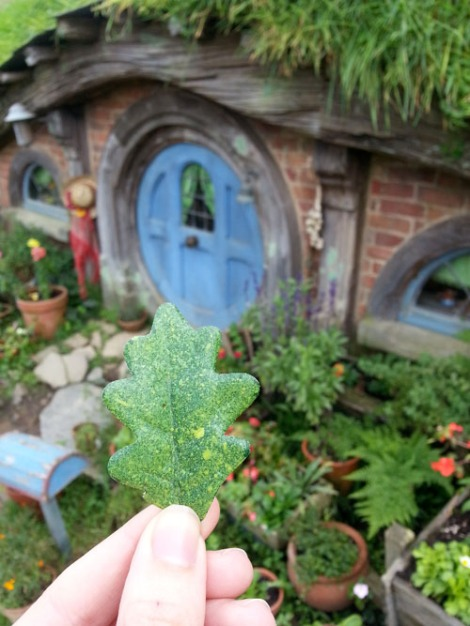 One of the painted they repainted leaves that fell from Bilbo's tree.