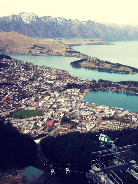 The picture I couldn't wait to take of Queenstown! Seeing it with my own eyes was good too, I guess.