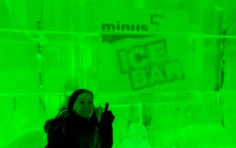 ice bar sign