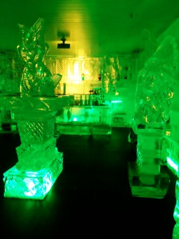 Why does an ice bar need a sprinkler?