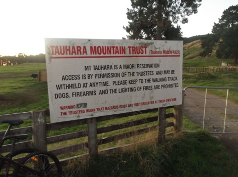 That start of the Mt Tauhara walk