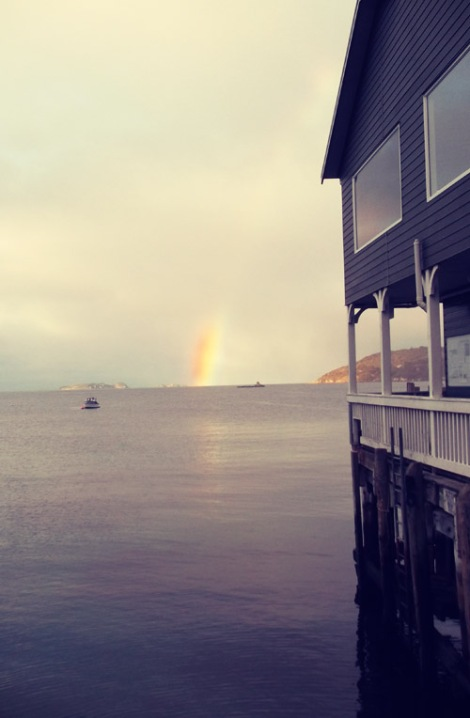 Rainbow! Stewart Island Ferry Terminal.