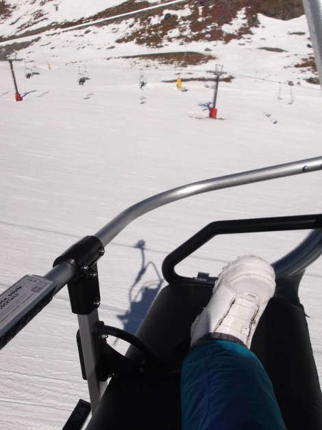 Laura share no chairlift.
