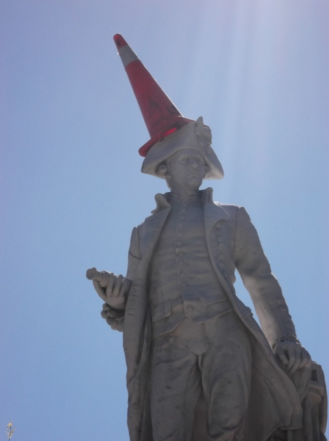 James Cook: Cone Head. Lolz...