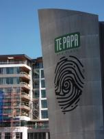 Te Papa sign.