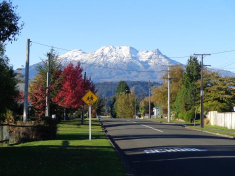 Mt Ruapehu from Ohakune